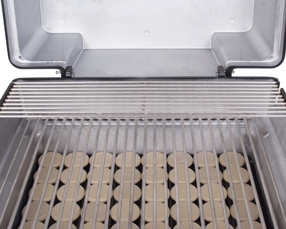 Stainless cooking grids and moon rock
