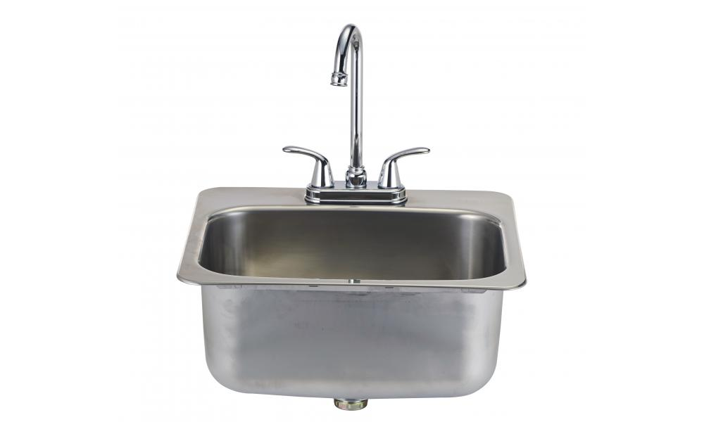 Bull Large Stainless Steel Sink With Faucet For Outdoor Kitchen Universal Propane Grill Light Inc Name Category