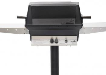 PGS A40 Natural Gas Grill on a Post
