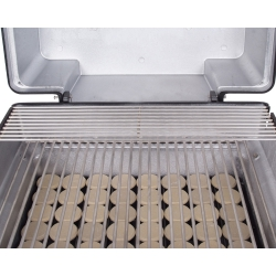 Stainless steel cooking grids and moon rock